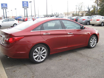 Red Hyundai Sonata After Repair