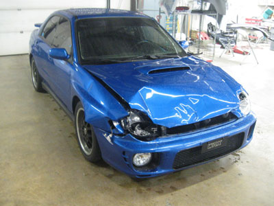 Subary WRX Before Repair